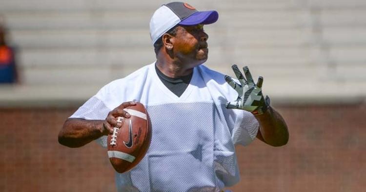 Jordan has been still slinging the ball in the Clemson flag football alumni games.