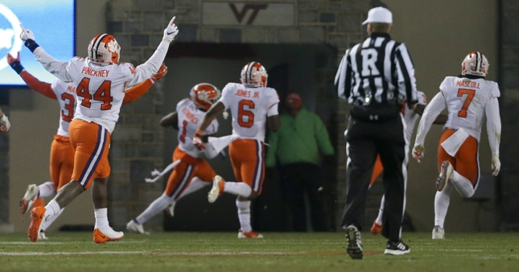 Derion Kendrick was out for disciplinary reasons against Pitt and totaled 50 snaps at Virginia Tech (ACC photo).