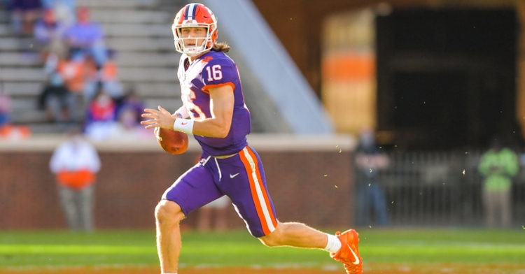 The sun shone on Trevor Lawrence one last time in the Valley. (Photo courtesy ACC)