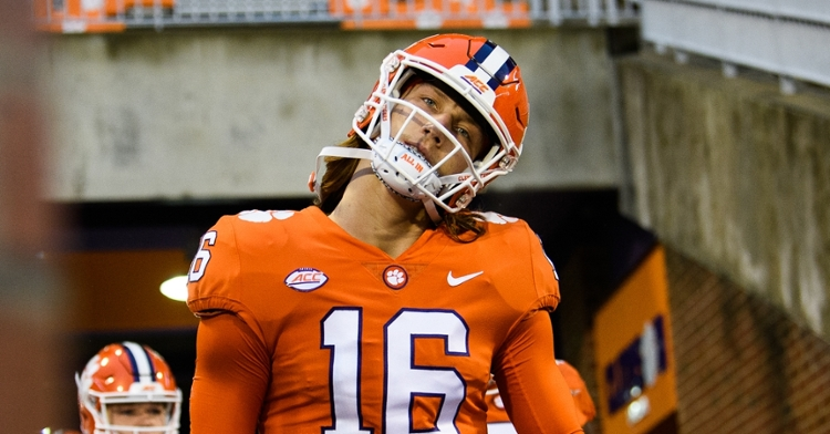 Trevor Lawrence and Alabama's Mac Jones are grading the best among Power 5 quarterbacks currently. (ACC pic)