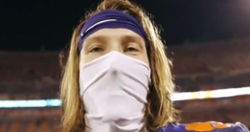 Trevor Lawrence thanks Clemson fans after his final home game