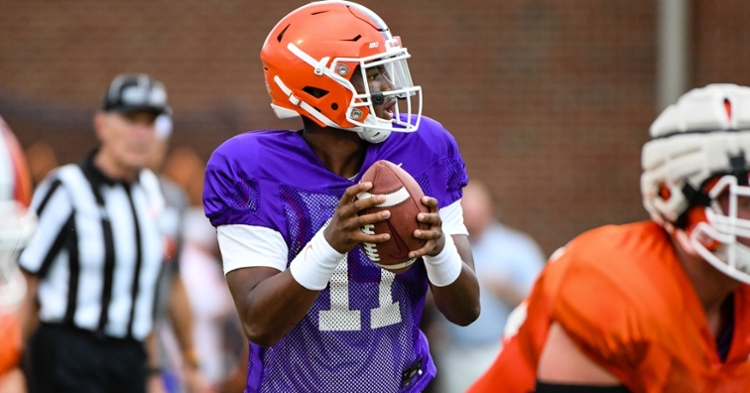 Clemson backup QB breaks bone in hand