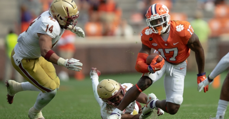 Cornell Powell had a career-high 11 receptions for 105 yards. (ACC photo)