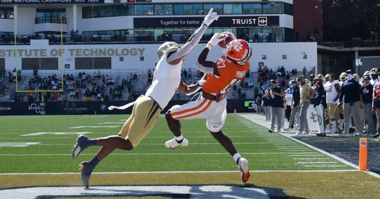 Cornell Powell makes the grab against Georgia Tech Saturday. (Photo courtesy ACC)