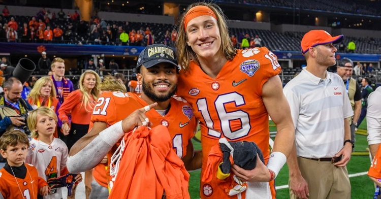 Darien Rencher (left) and Trevor Lawrence are both eligible to return next season.
