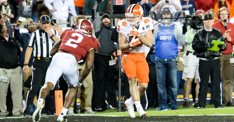 Renfrow hauls in the game-winning TD against  Bama