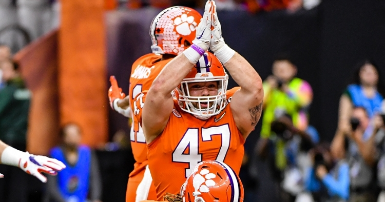 Clemson LB named to Bednarik Award watch list