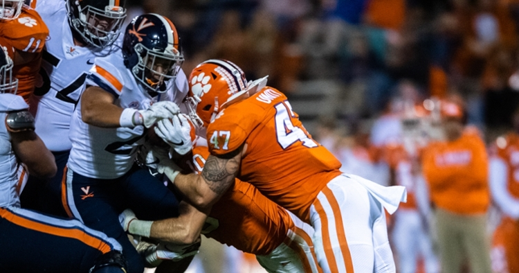 James Skalski has been a mainstay on the Tiger defense over the last couple seasons. (ACC photo)