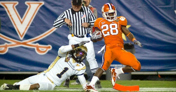 CJ Spiller almost single-handedly carried Clemson to its first ACC title since 1991 in 2009.