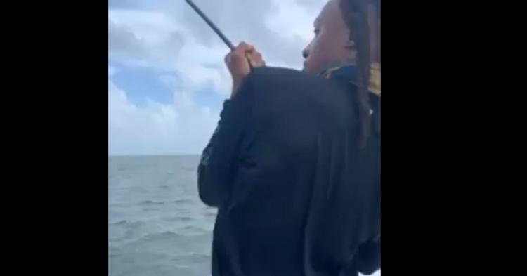 DeAndre Hopkins reeling in his sea monster