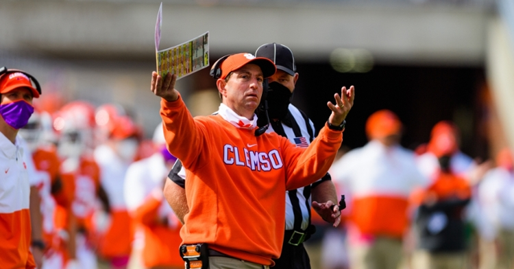 Swinney said he doesn't worry about what FSU has to say (ACC photo).