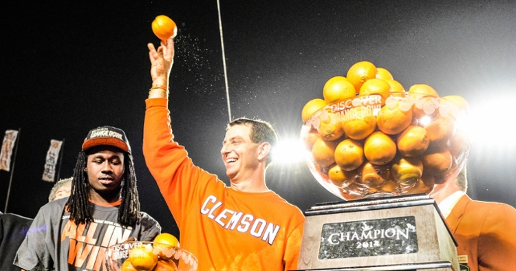 Swinney knew his Tigers were going to win the Discover Orange Bowl over Ohio State.