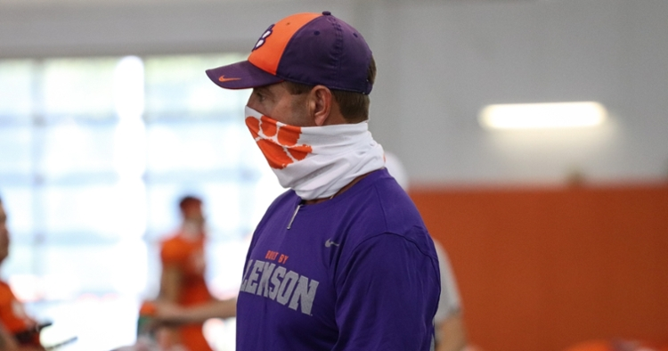 It's been a different lead-up to the opener and there are a few players out for some unspecified reasons. (File photo per Clemson athletics)