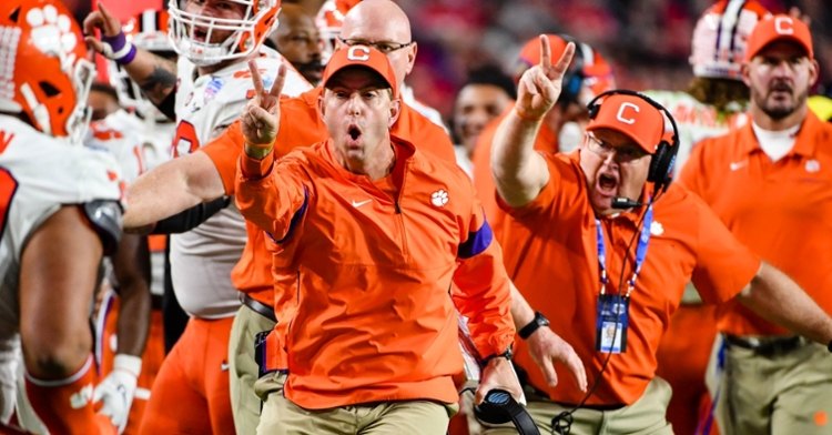 Swinney is ranked the second-best coach in all of CFB