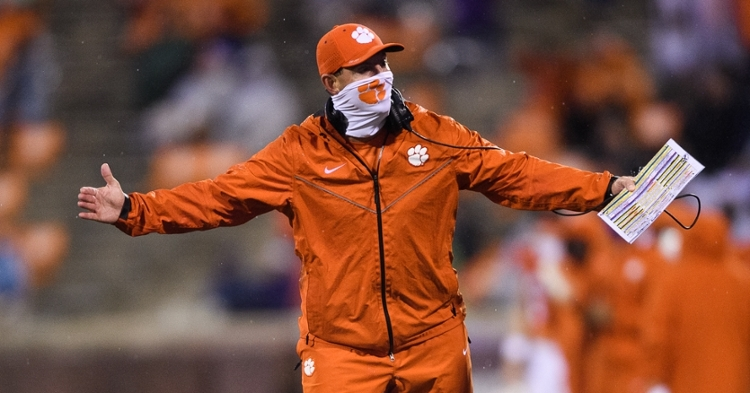 Swinney says if it was up to him, Clemson wouldn't travel back to Tallahassee on Dec. 12. (Photo courtesy ACC)