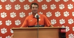 Dabo Swinney updates injuries on team