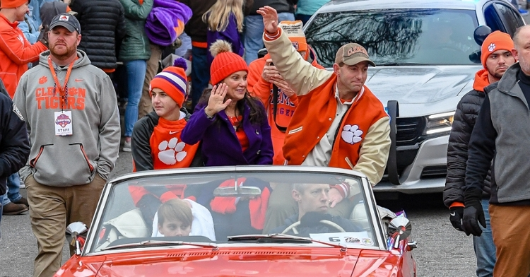 Swinney has spent quality time with his family.