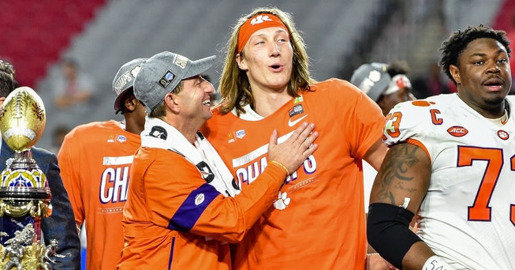 Swinney had a good time at Trevor Lawrence's wedding