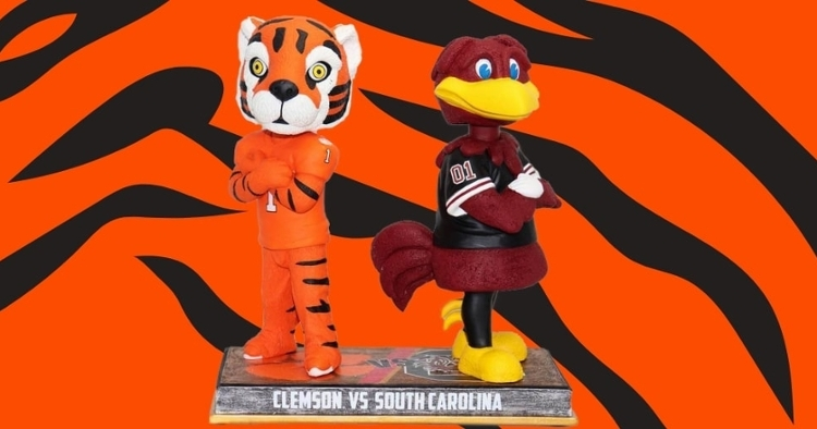 FIRST LOOK: Limited Edition Clemson-South Carolina Rivalry Bobblehead released