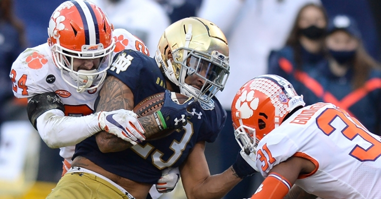Clemson's defense made a statement in win over Notre Dame. (Photo courtesy ACC)