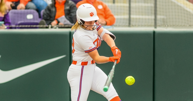 MK Bonamy hit her third home run of the season to put Clemson on top.