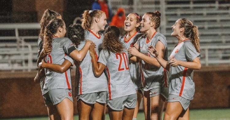 Clemson women's soccer has outscored opponents 7-0 on the season. (Photo per Clemson)