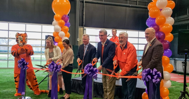Clemson held the ribbon cutting ceremony Friday.