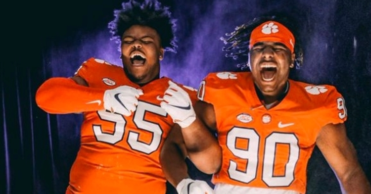 Page (left) had a good time with Korey Foreman (right).