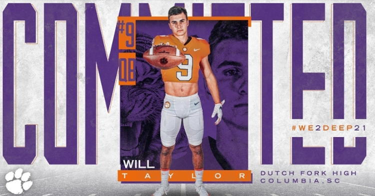Taylor committed to Clemson Wednesday morning.