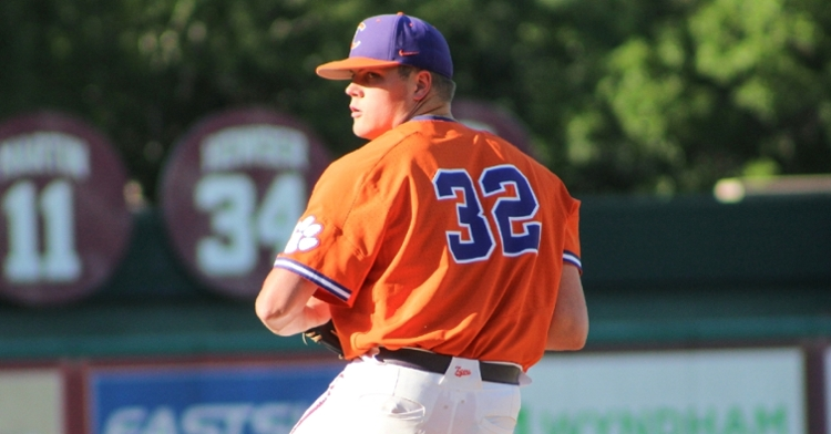 Anglin fired nine strikeouts and gave up four runs, with just two earned, over six innings. (Clemson athletics photo)