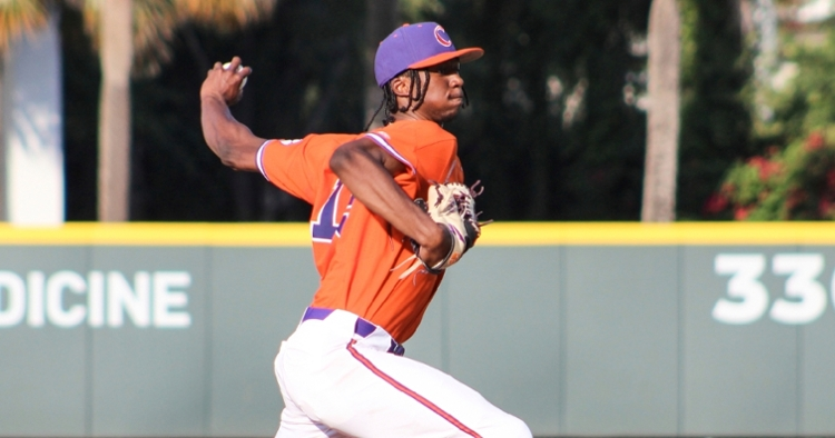 Askew gave up five earned runs out of his seven total surrendered. (Clemson athletics photo)