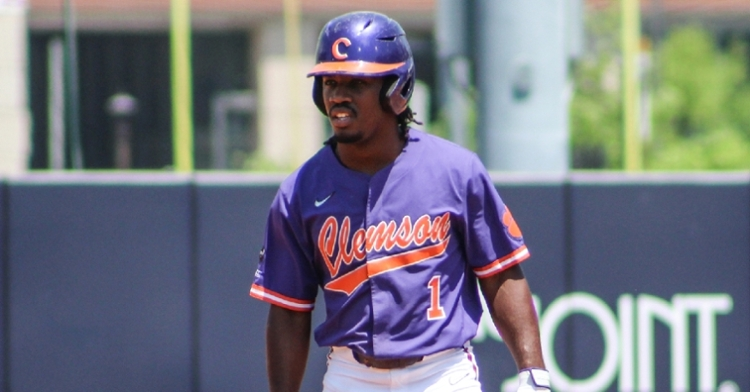 Kier Meredith led Clemson's bats with three RBIs as the Tigers jumped out to a 6-0 lead (Clemson athletics photo).