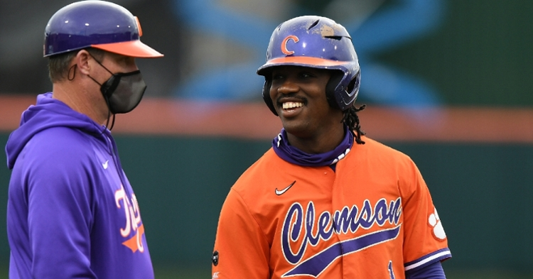 Clemson had a lot to smile about from Friday's game. (ACC photo)