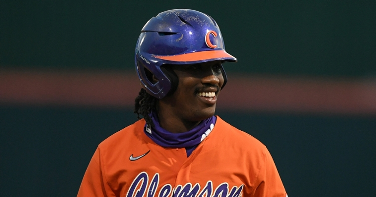 Meredith knocked in two runs and totaled three hits Friday as Clemson broke a 7-game losing streak. (ACC file photo)