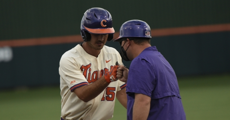 Parker put Clemson in the lead with a 2-RBI single in the second inning. (Clemson athletics photo)