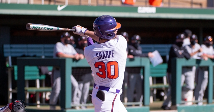 Davis Sharpe and the Tigers push for a strong finish to ACC action starting Thursday (Clemson athletics photo).