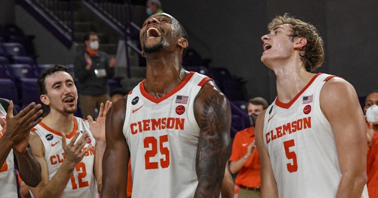 Clemson had plenty of fun during Tuesday's win over UNC. (ACC photo)