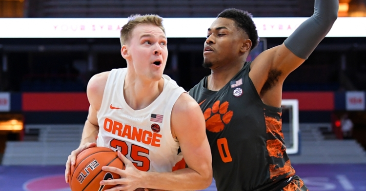 Trapp playing defense against Syracuse (Rich Barnes - USA Today Sports)