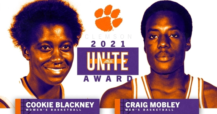 The ACC's inaugural UNITE Award goes to Cookie Blackney and Craig Mobley from Clemson. (Graphic per Clemson Athletics)