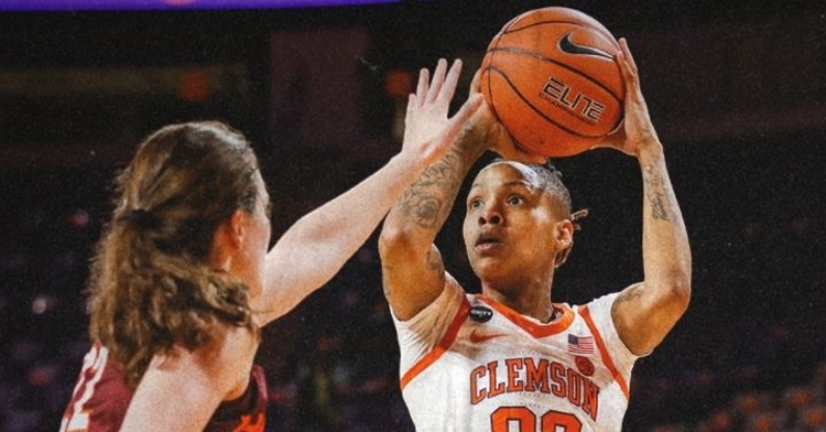 Clemson with the narrow loss against Virginia Tech (Photo: via Clemson Wbball Twitter)