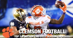 WATCH: Clemson Football's Top 5 plays of 2020 season