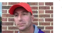 WATCH: Dabo Swinney, player interviews post-practice Monday