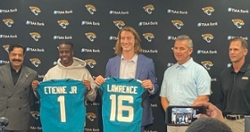 WATCH: Trevor Lawrence, Travis Etienne first news conference in Jacksonville