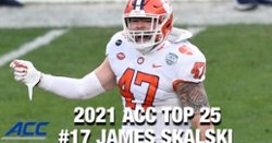 WATCH: James Skalski ranked as a top 20 ACC player