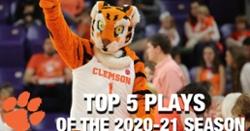 WATCH: Top 5 plays of 2020-2021 Clemson basketball season