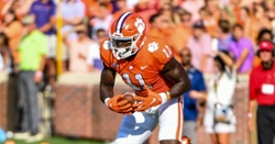 Clemson receiver seeing more chances playing