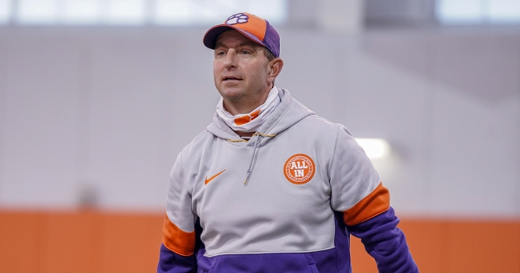 Dabo Swinney has accumulated a number of rings as Clemson's head coach.