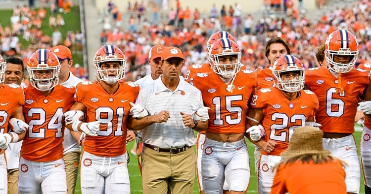 Clemson was ranked 19th previously by the Coaches.