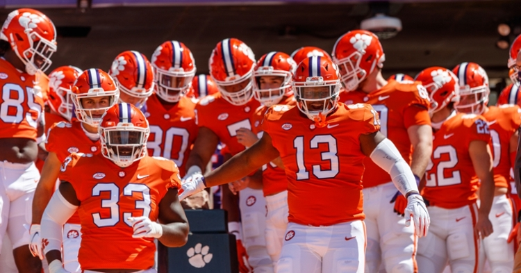 Clemson's Howard's Rock entrance is hard to top.