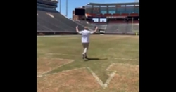 WATCH: Jon Gruden runs down the hill at Death Valley